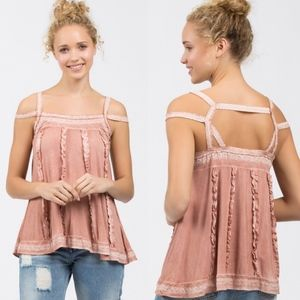 BLOSSOM Strappy Spring Top - BLUSH